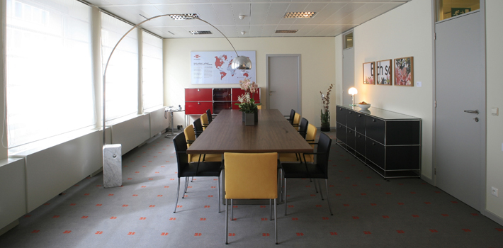 Interior view of Würth Office in Brussels.